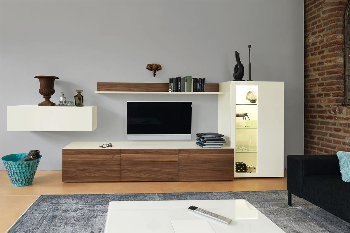 now by h lsta wohnwand vision einrichtungsh user h ls schwelm. Black Bedroom Furniture Sets. Home Design Ideas