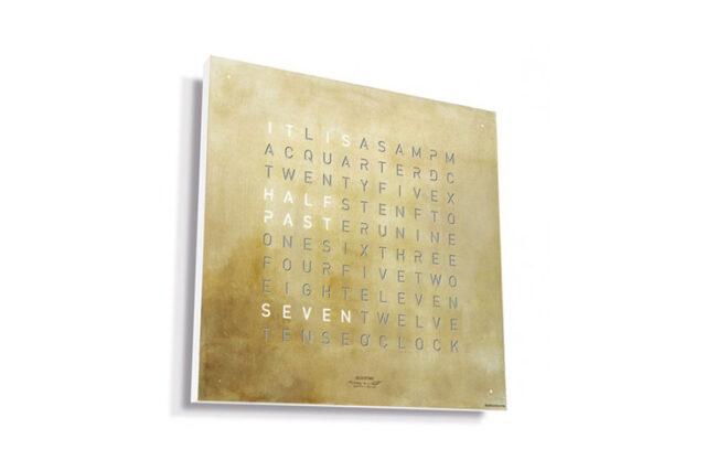 QLOCKTWO CLASSIC Creator's Edition Silver-Gold