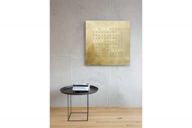 QLOCKTWO LARGE CREATOR'S EDITION Silver Gold
