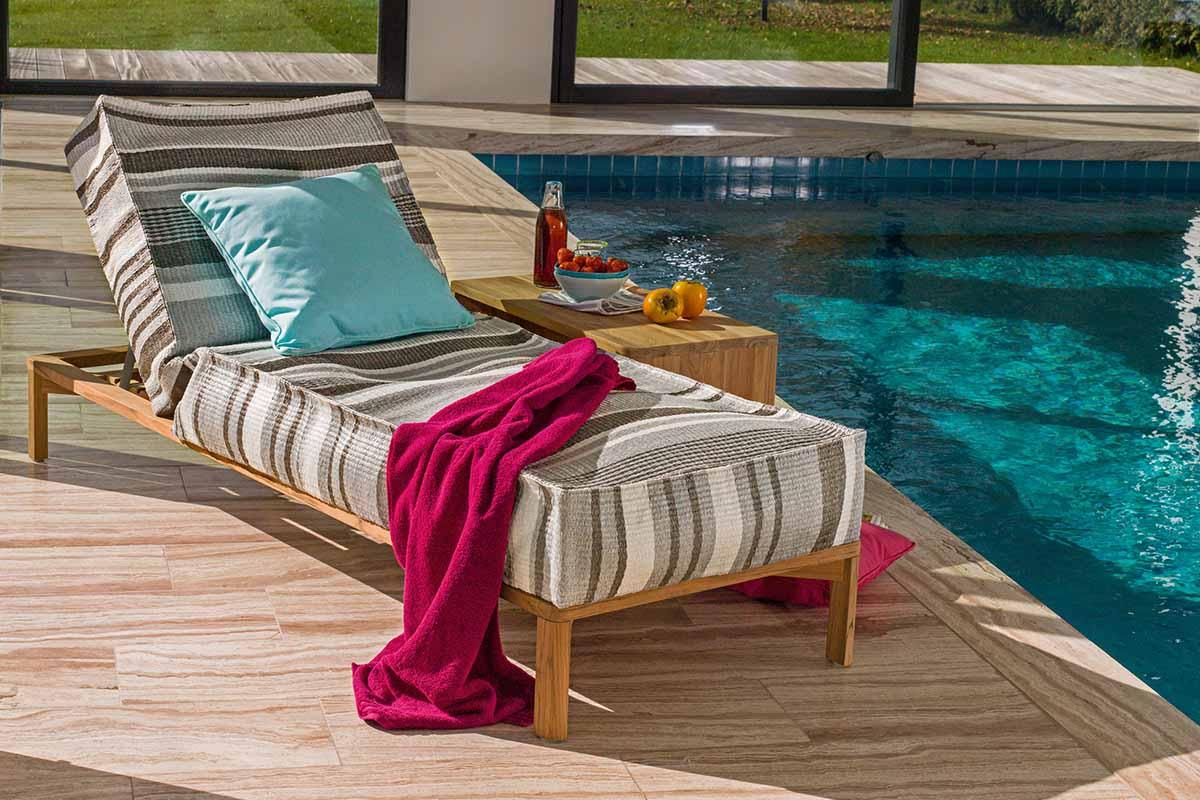 Weishäupl Newport Liege - elegante Outdoor-Möbel aus Teak | Hüls
