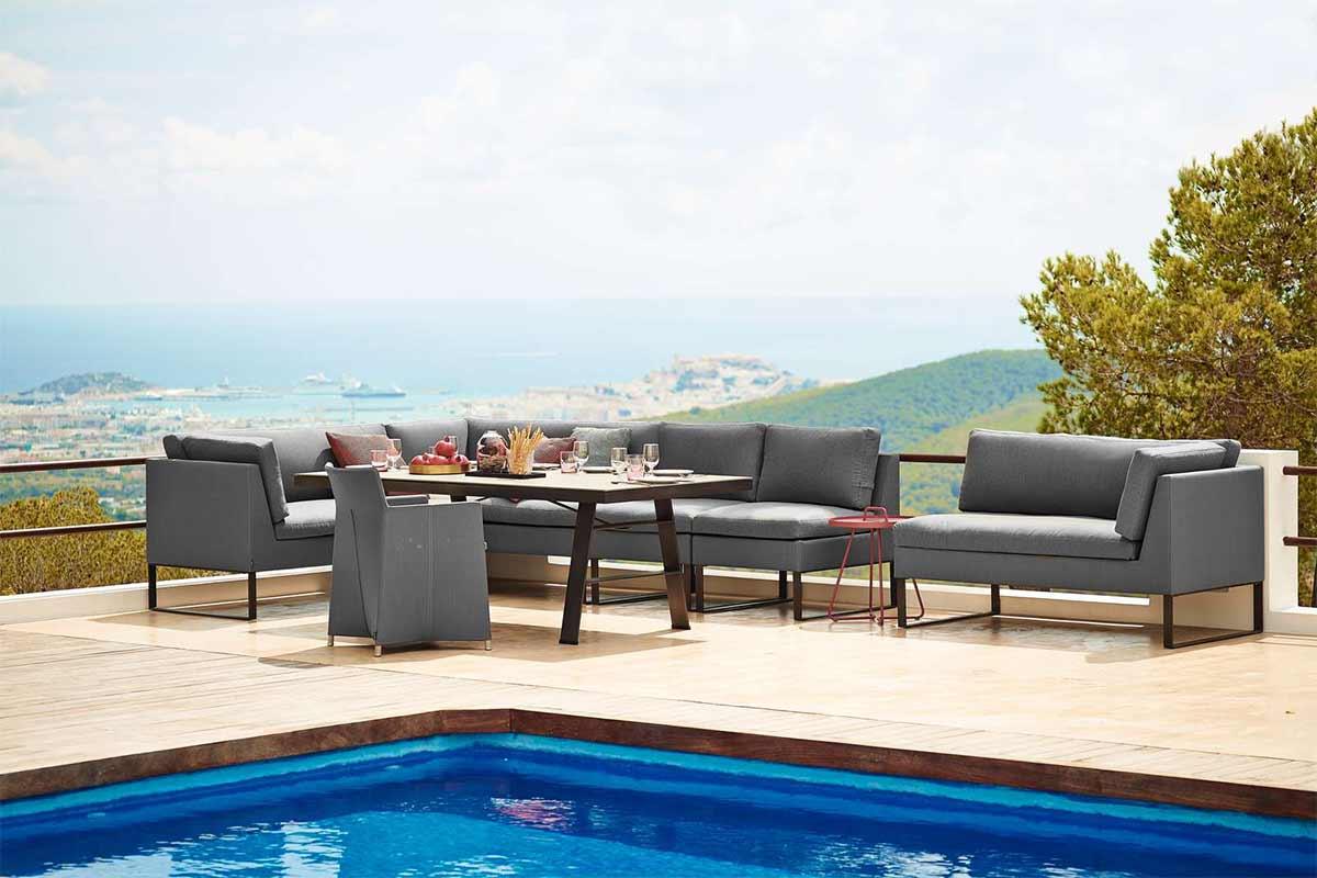 Cane-line Sofa und Tisch Flexx