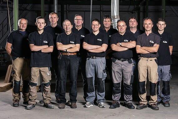 Hüls Team für Werkstatt und Lieferung