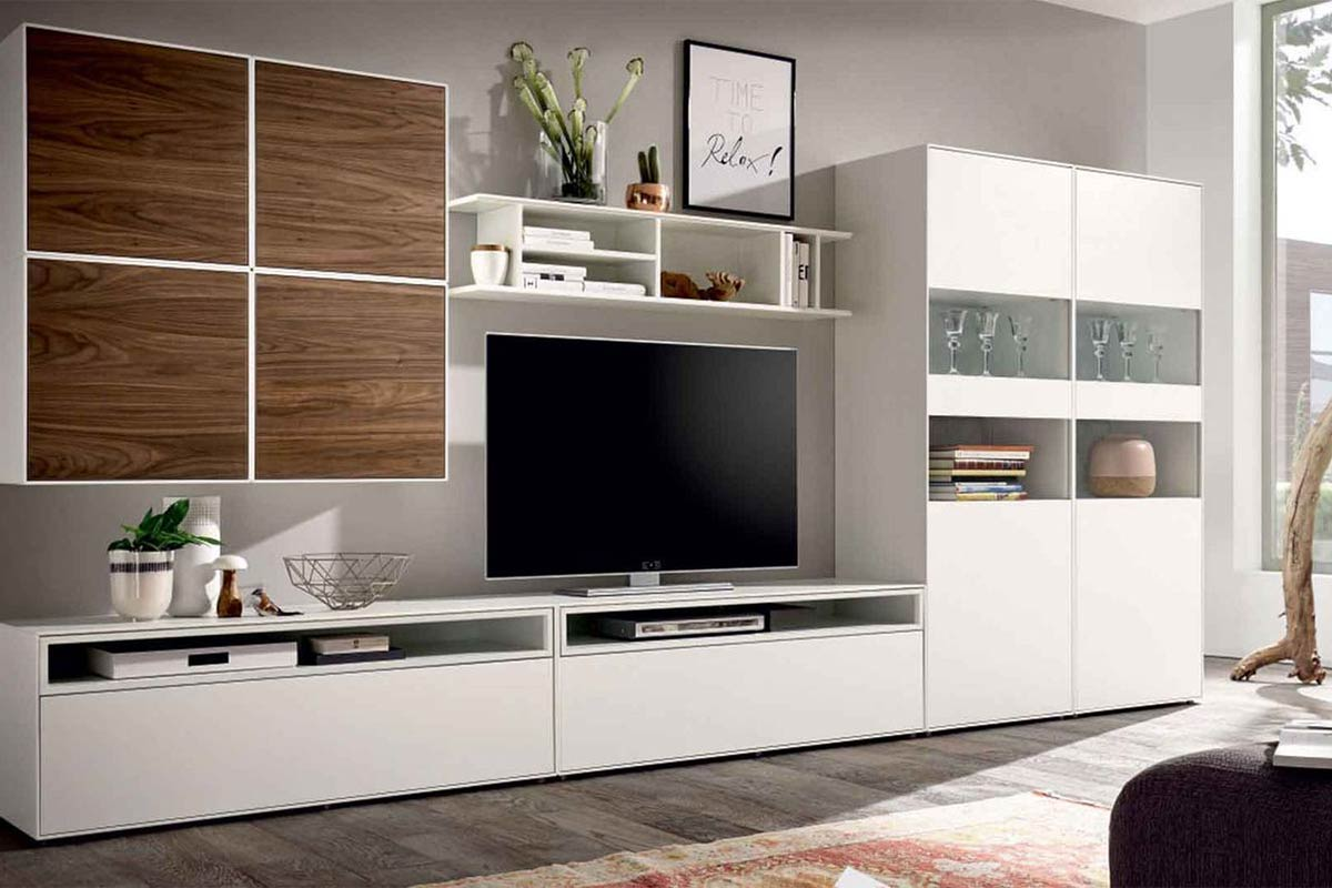 h lsta now easy wohnwand einrichtungsh user h ls. Black Bedroom Furniture Sets. Home Design Ideas