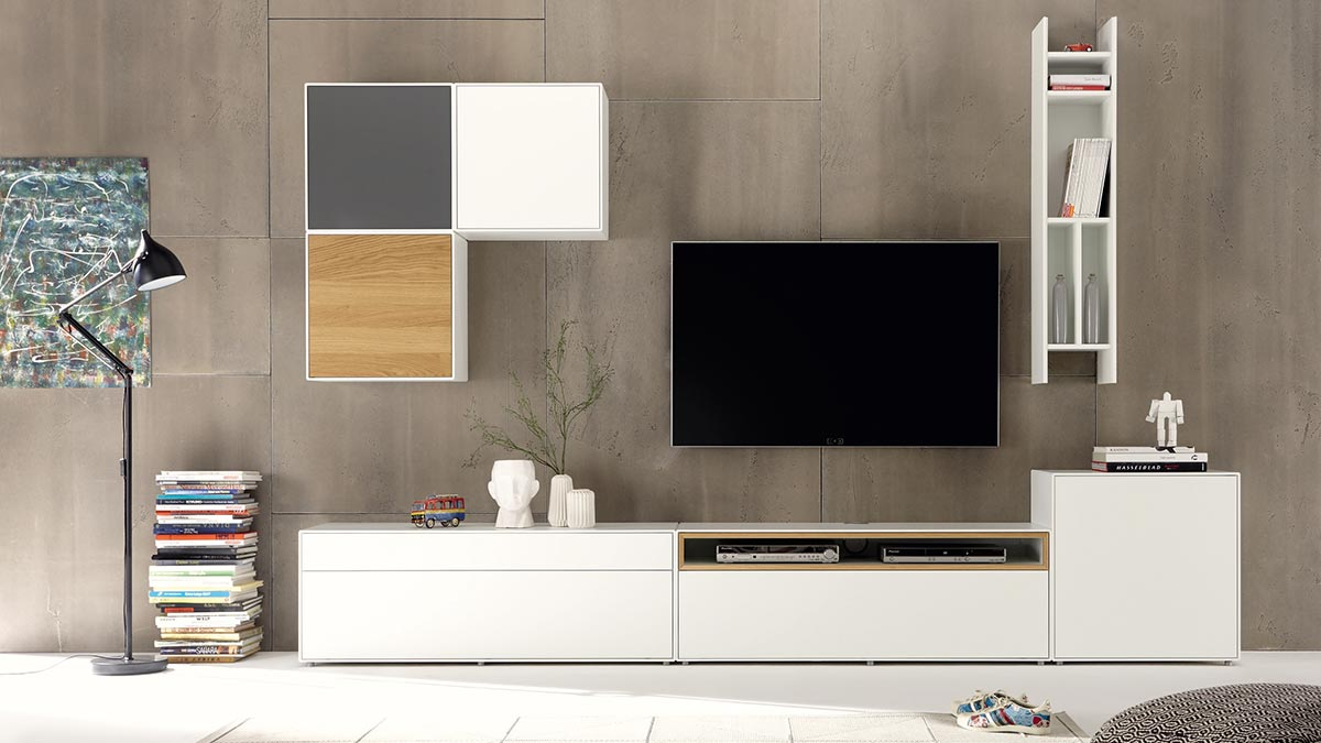 now by h lsta modulares baukastenprogramm easy. Black Bedroom Furniture Sets. Home Design Ideas