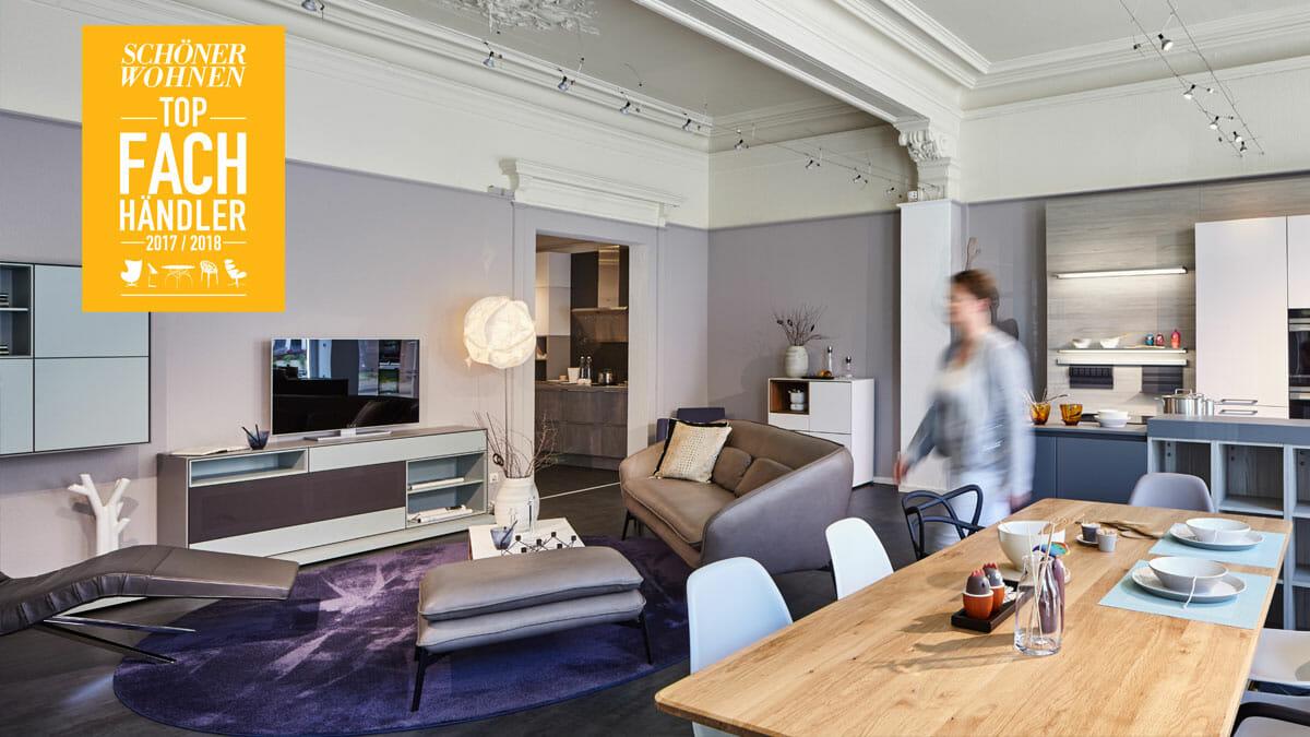 sch ner wohnen top fachh ndler 2017 einrichtungsh user h ls. Black Bedroom Furniture Sets. Home Design Ideas
