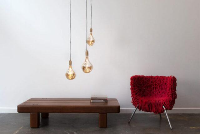 Tala Pendelleuchte Brass Pendant, Leuchtmittel Voronoi II