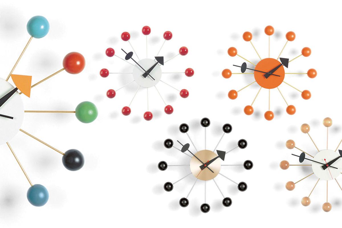 vitra ball clock wanduhr einrichtungsh user h ls. Black Bedroom Furniture Sets. Home Design Ideas