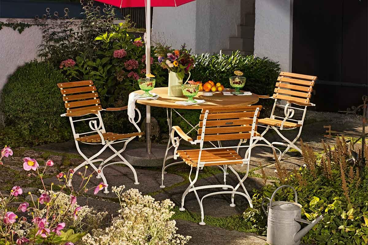 Weishäupl Classic - Design Gartentische und Gartenstühle aus Teak ...